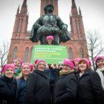 Frauenaktion in Wiesbaden, Männer haben Denkmäler, Frauen haben Zukunft!