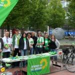 Wahlkampfstand in Baunatal