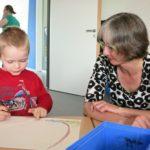 Karin zu Besuch im HoPla-Kinderhaus des Studentenwerks Kassel (11.04.2016).