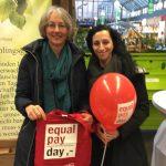 Equal Pay Day Stand für gleicher Lohn für gleiche Arbeit in der Markthalle (17.03.2018)