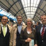 Fahrt mit dem Brennstoffzellenzug von Wiesbaden nach Hoechst (13.04.2018)